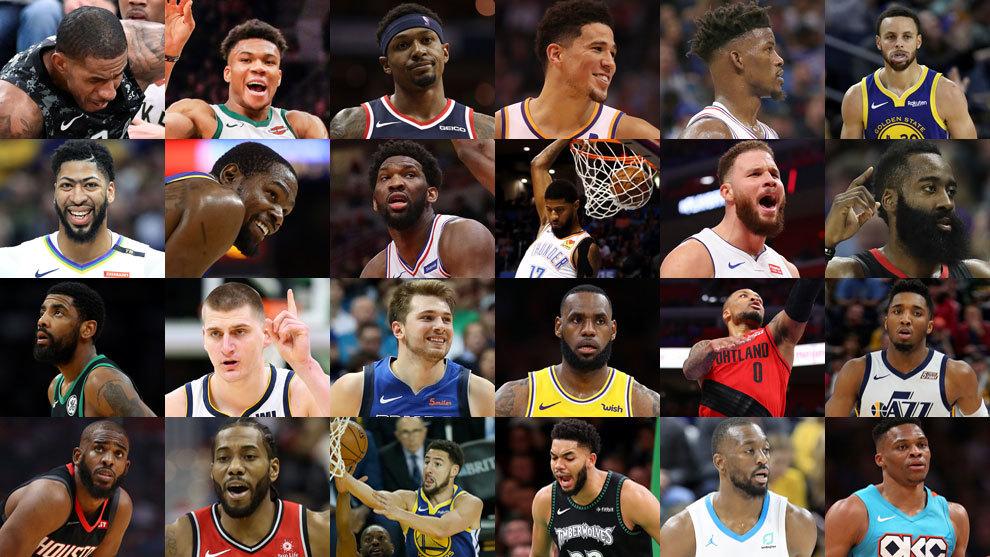 El ranking de los mejores jugadores de la NBA