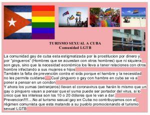 Turismo sexual a Cuba aumenta casos de coronavirus